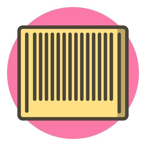 Design de ícone de código de barras vetor