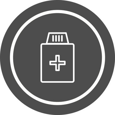 Design de ícone de frasco de medicamento vetor