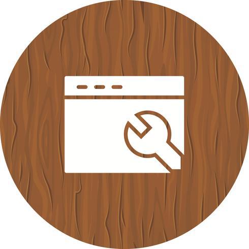 Design do ícone de configurações do navegador vetor
