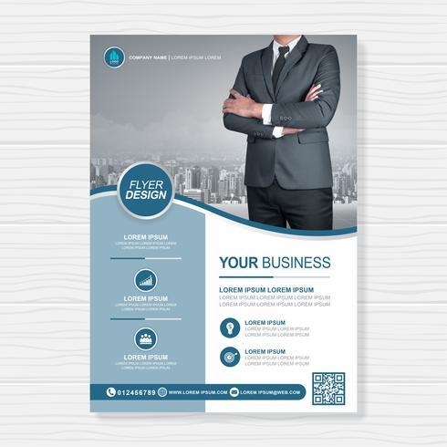 Negócios capa a4 modelo e ícone plana para um design de relatório e brochura, panfleto, banner, decoração de folhetos para impressão e apresentação de ilustração vetorial vetor