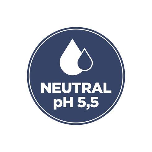 Ícone de pH neutro vetor
