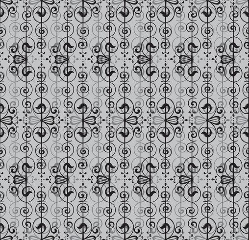 Resumo padrão sem emenda. Ornamento de linha retrô redemoinho. vetor