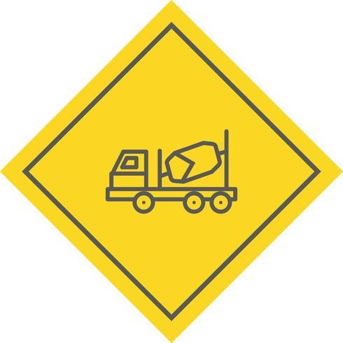 Design de ícone de betoneira vetor