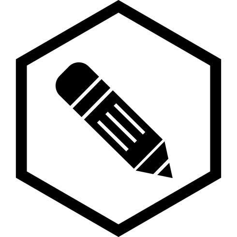 Design de ícone de lápis vetor