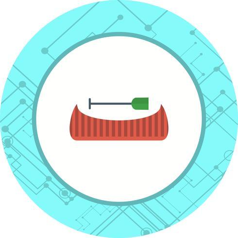 Design de ícone de canoa vetor