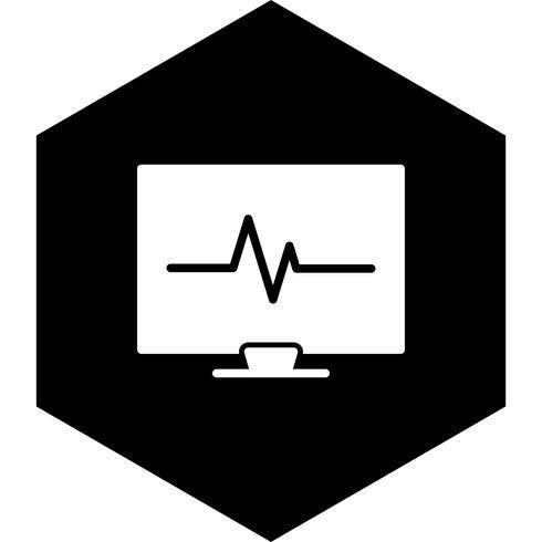 Design de ícone de ECG vetor