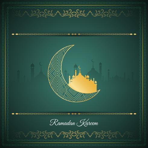 Fundo de saudação islâmica abstrata Ramadan Kareem vetor