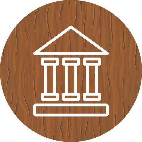 Projeto de ícone do Instituto educacional vetor