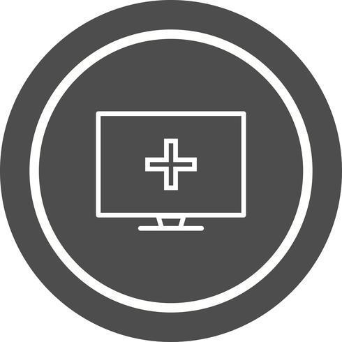 Design de ícone de ajuda médica on-line vetor
