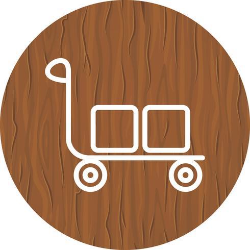 Design de ícone de carrinho vetor