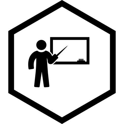 Ensinando ícone do design vetor