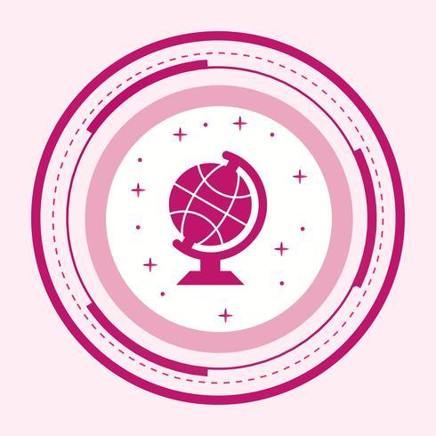 Ícone do globo vetor