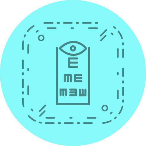 Design de ícone de teste de olho vetor