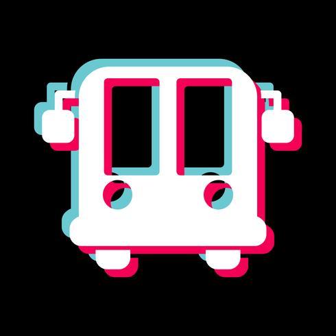 Ícone de ônibus de aeroporto vetor
