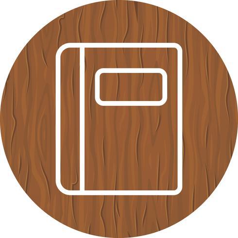 Design de ícone de caderno vetor