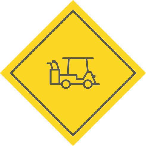 Design de ícone de carrinho de golfe vetor