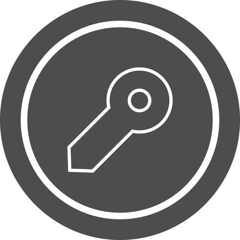 Design de ícone de chave vetor
