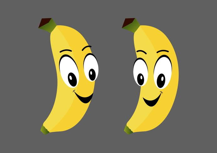 Personagem de desenho animado de banana vetor