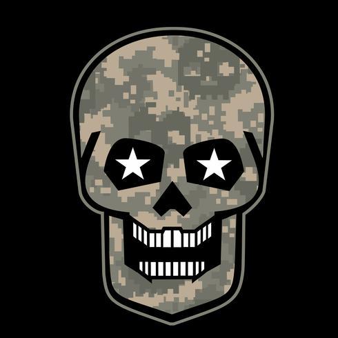 emblema agressivo com crânio vetor