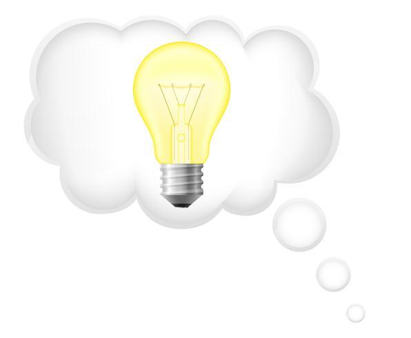 ilustração em vetor conceito idéia