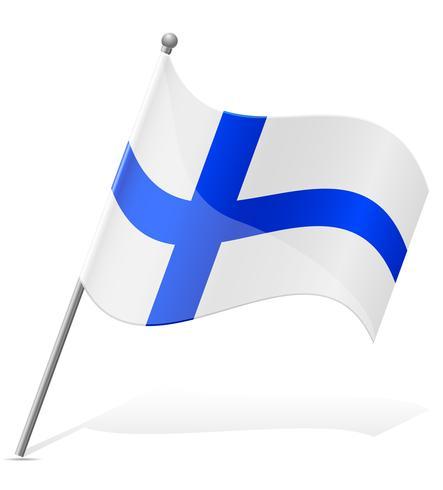 bandeira da ilustração vetorial de Finlândia vetor