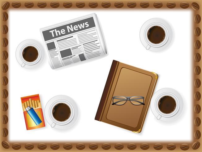 conjunto de ícones de xícaras com café vetor