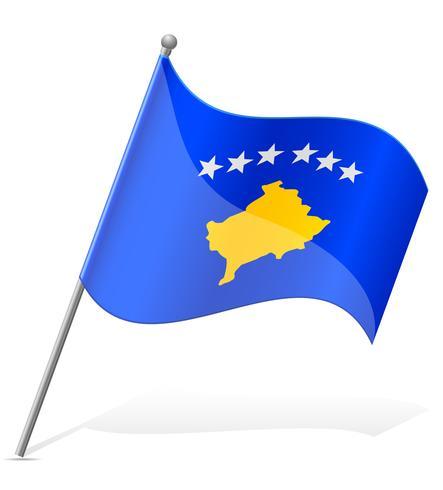 bandeira de ilustração vetorial de Kosovo vetor