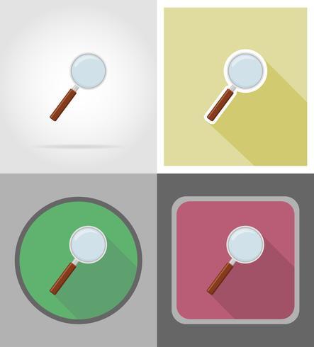 ilustração em vetor ícones plana lupa