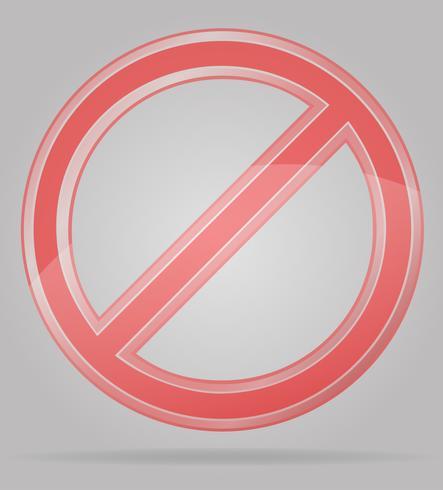 ilustração em vetor sinal transparente proibição