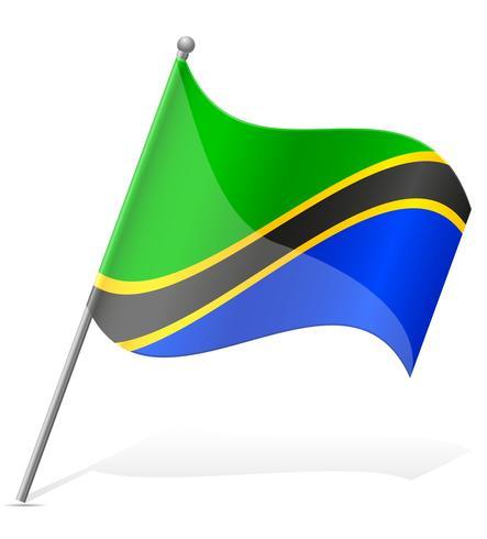 Bandeira da ilustração vetorial de Tanzânia vetor