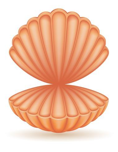ilustração em vetor mar concha