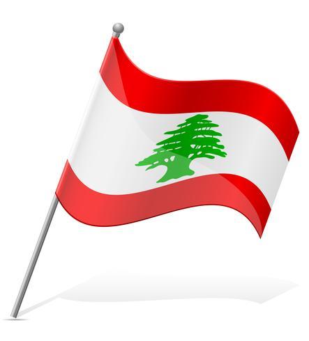 bandeira da ilustração vetorial de Líbano vetor