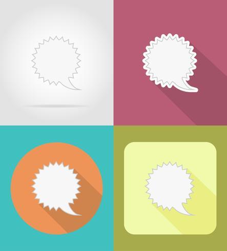 ilustração em vetor ícones bolhas discurso plana