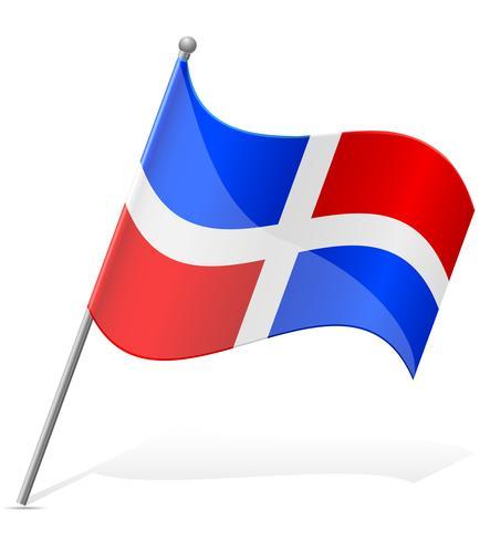 bandeira da ilustração vetorial Dominicana vetor