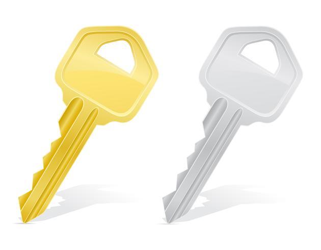 ilustração de vetor de fechadura de porta de chaves