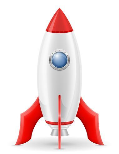 ilustração em vetor nave espacial retrô foguete espacial