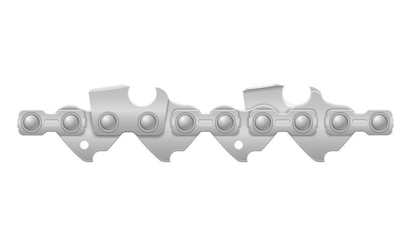 metal de cadeia motosserra e nitidamente afiada ilustração vetorial vetor