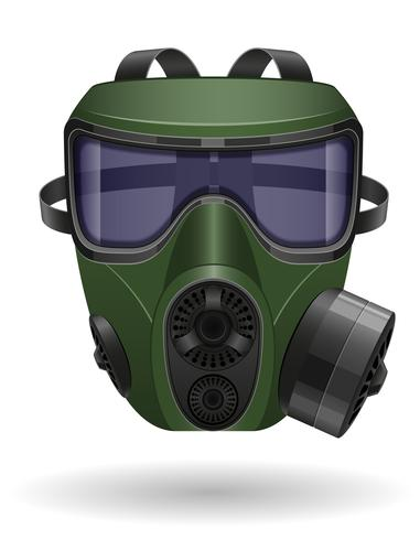 ilustração em vetor máscara de gás