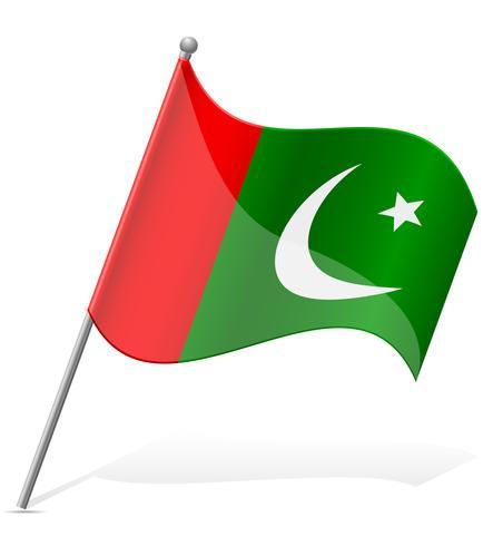Bandeira da ilustração vetorial de Paquistão vetor