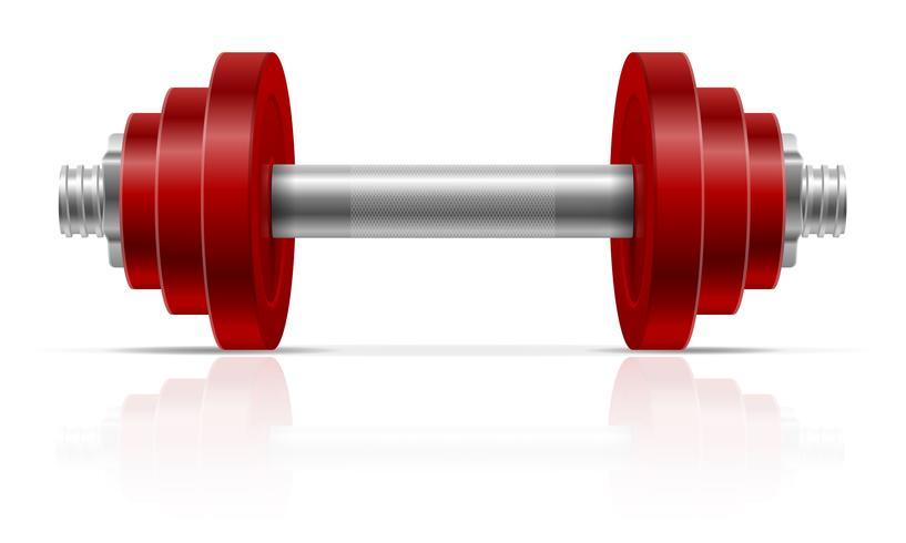 haltere metal para construção muscular em ilustração vetorial de ginásio vetor