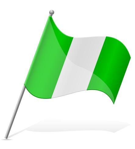 Bandeira da ilustração vetorial de Nigéria vetor