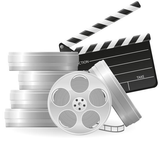 conjunto de ícones cinematografia cinema e filme ilustração vetorial vetor