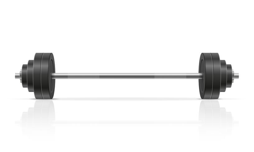 barra de metal para construção muscular em ilustração vetorial de ginásio vetor