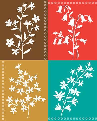 colocação botânica floral botânica do vetor
