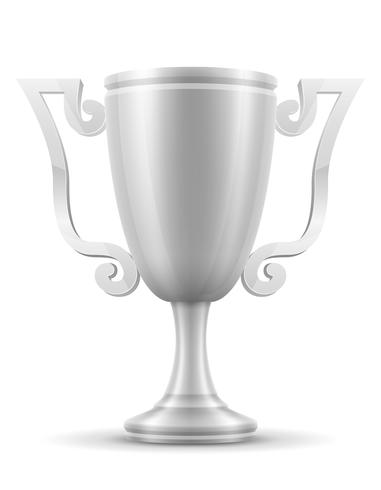ilustração em vetor estoque prata vencedor do copo