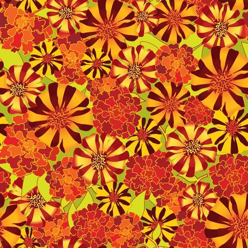 Padrão sem emenda floral abstrato. Fundo de flor de verão. vetor