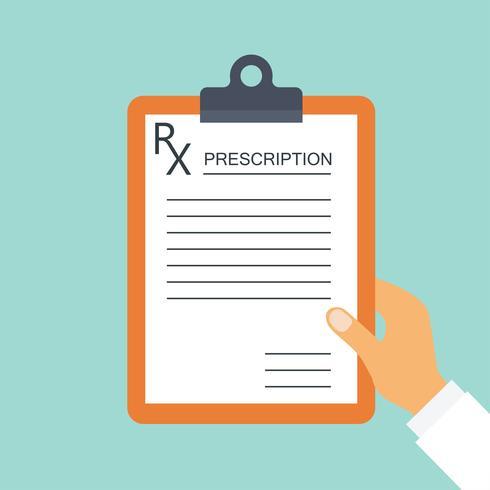 prescrição do médico para conceitos médicos e de saúde vetor