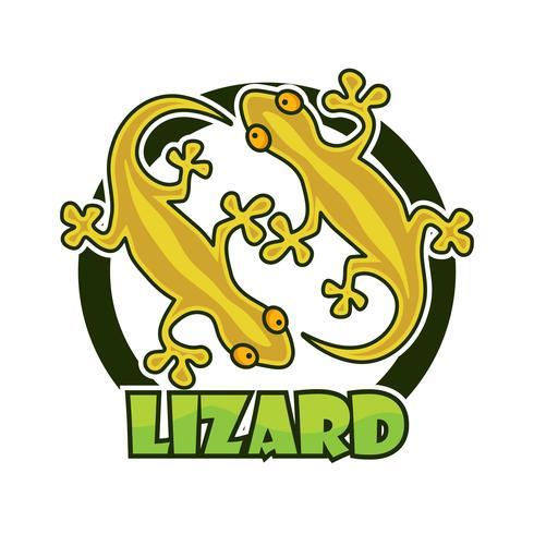 personagem de lagartixa gecko isolada no fundo branco vetor
