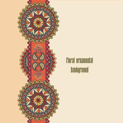 Oriental floral padrão sem emenda. Fundo ornamental geométrico. vetor
