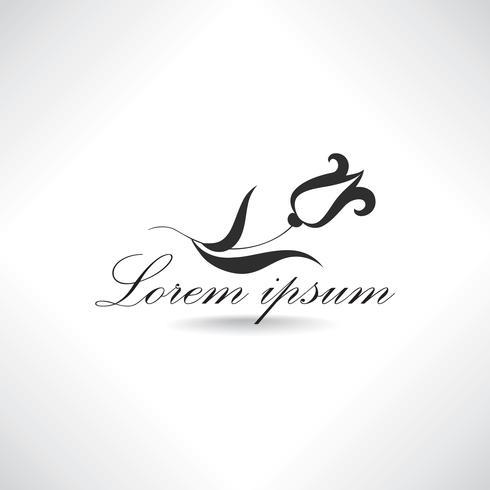 Ícone de flor abstrata. Logotipo floral. Sinal de salão de beleza. Design de etiquetas. vetor